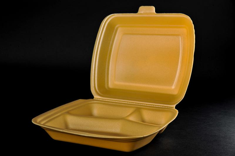 Polystyrene container with a lid(menu box) MB 3