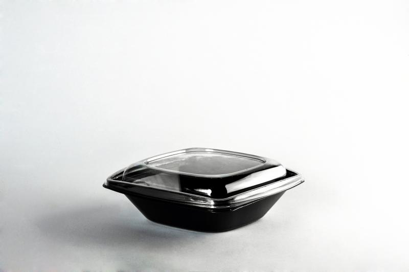 Black bowl for salad 750ml