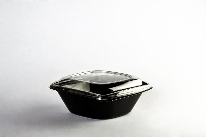 Black bowl for salad 1000ml