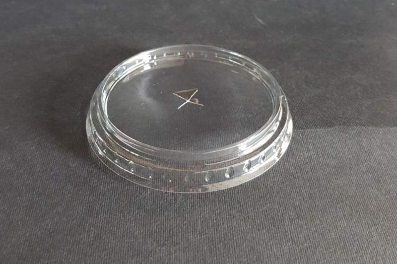 Flat lid for glass