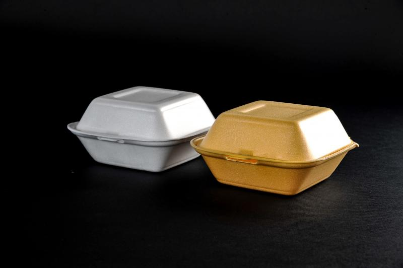 Polystyrene containers with a lid