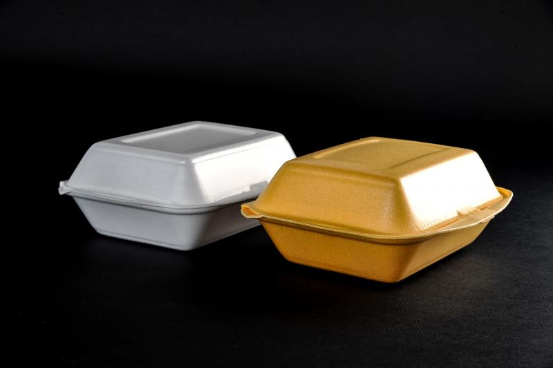 Polystyrene container with a lid(menu box) HB 9
