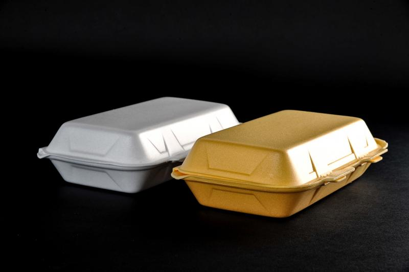 Polystyrene container with a lid(menu box) HB 10